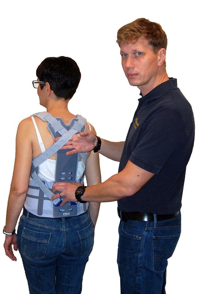 Osteoporosetherapie mit Orthopädietechnikmeister Ralph Schnoor bei Gutgesell